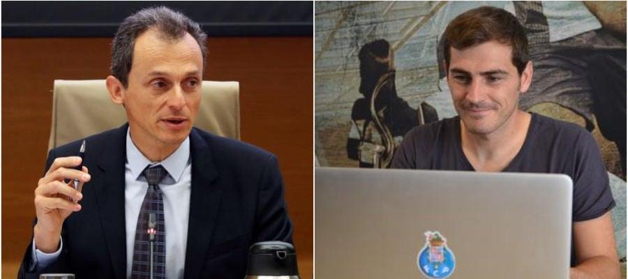 Pedro Duque e Iker Casillas
