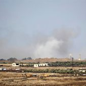 Imagen de archivo de bombardeos en Siria