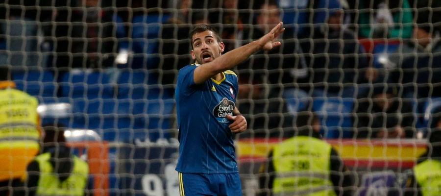 Jonny Castro durante un partido con el Celta