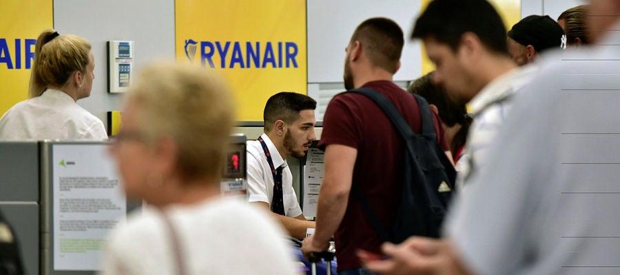 Mostradores de facturación de Ryanair