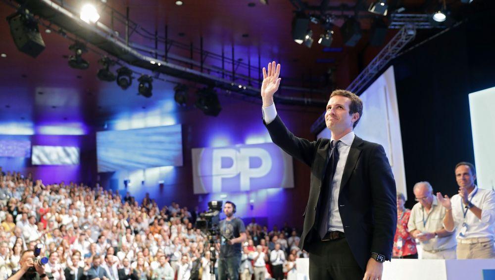 Pablo Casado en una imagen del Congreso Extraordinario del PP