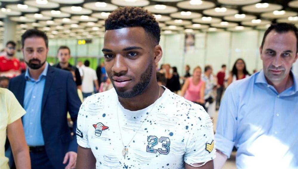 Thomas Lemar a su llegada a Madrid