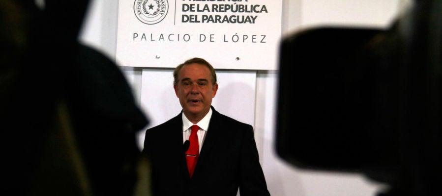 El ministro de Agricultura y Ganadería, Luis Gneiting