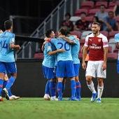 Jugadores del Atlético celebrando un gol