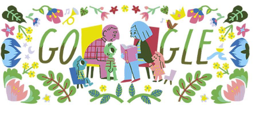 Doodle de Google dedicado a los abuelos