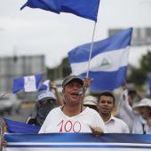 En la imagen una de las protestas en Nicaragua