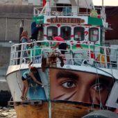 Foto del un barco 'Flotilla de la libertad'