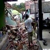 Los destrozos en algunas zonas de Lómbok tras el terremoto