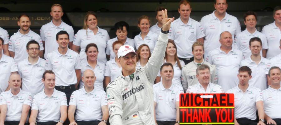 Schumacher, el día de su retirada