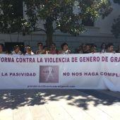 Concentración en repulsa al crimen de violencia de género sucedido en Dúrcal