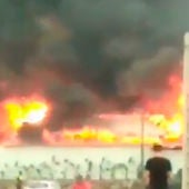 Chiringuito incendiado en Málaga