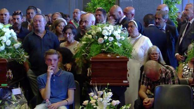 Italia conmemora a los fallecidos del desplome del puente en Génova