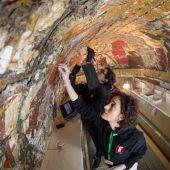Restauración Pinturas de Cuero Sala de los Reyes