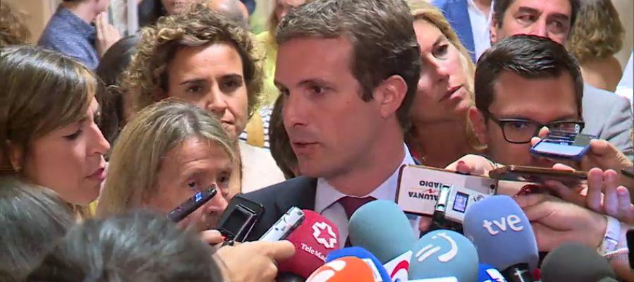 Pablo Casado insta a la Fiscalía a estudiar si puede querellarse contra el juzgado belga que lleva la demanda contra Llarena