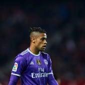 Mariano Díaz, durante un partido con el Real Madrid