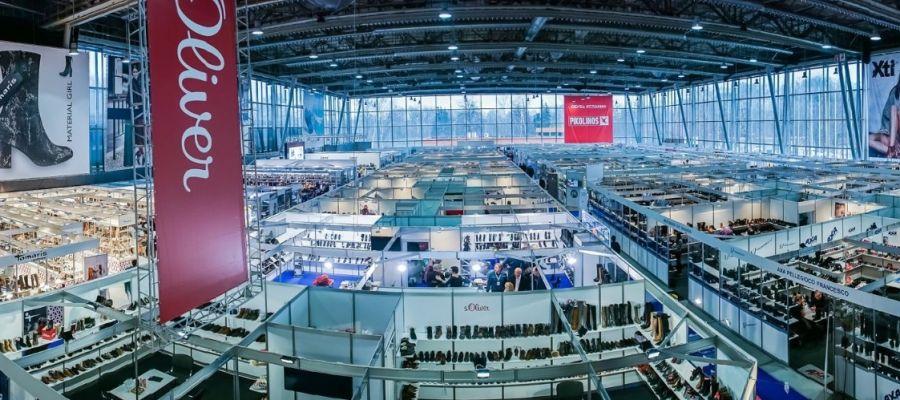 Panorámica de la Feria EuroShoes en Rusia.