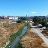 El río Vinalopó a su paso por el área del puente de Barrachina de Elche.