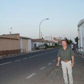 Alberto Lillo durante la visitá que realizó a Las Casas