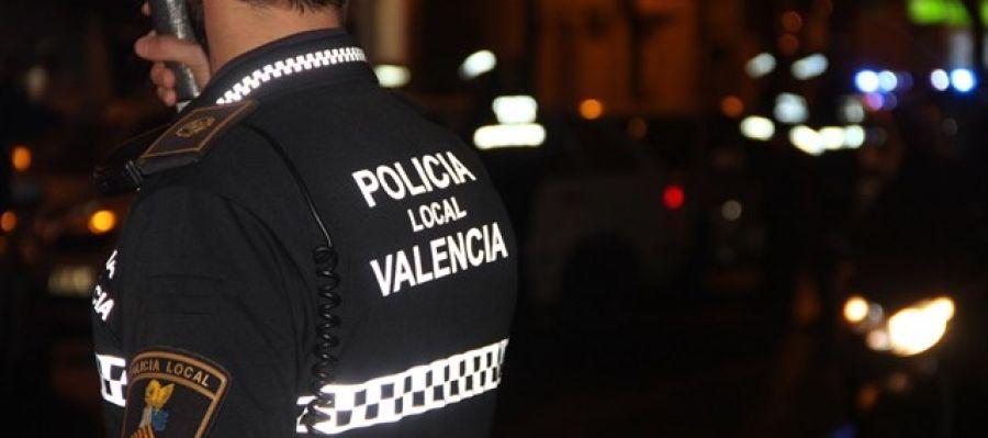 Un policía local de Valencia