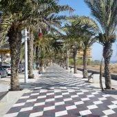 Avenida San Bartolomé de Tirajana de la pedanía de Arenales del Sol de Elche.