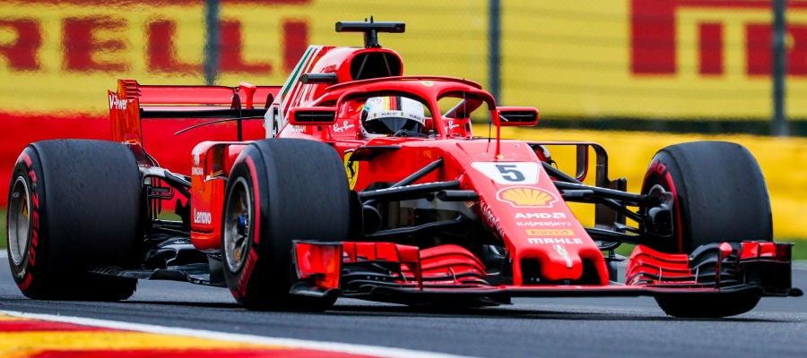 Sebastian Vettel en el GP de Bélgica