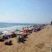 Playa de Arenales del Sol de Elche.