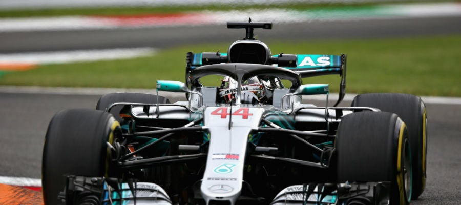 Lewis Hamilton rueda en Monza