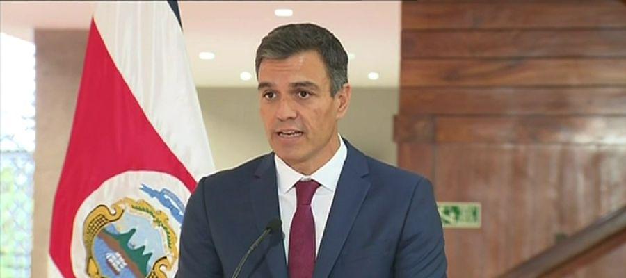 Pedro Sánchez, en Costa Rica