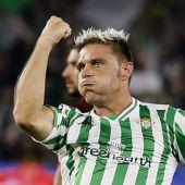 Joaquín Sánchez, goleador en el derbi sevillano.