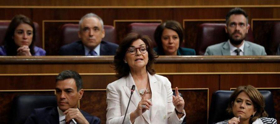 Carmen Calvo en el Congreso