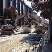 La calle Libreros de Alcalá en obras