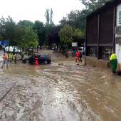 Fuertes lluvias en la localidad granadina de Riofrío