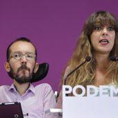 Noelia Vera y Pablo Echenique en rueda de prensa
