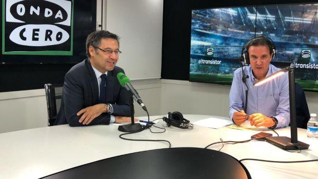 De la Morena con Josep María Bartomeu.