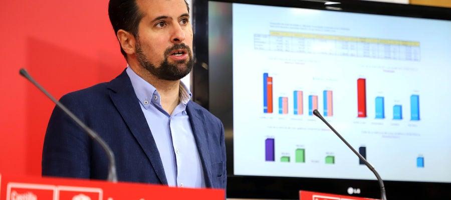El secretario general del PSCyL-PSOE y candidato a la Presidencia de la Junta, Luis Tudanca