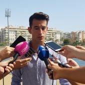 Luis Hernández, jugador del Málaga CF