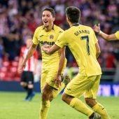 Fornals celebra su golazo contra el Athletic
