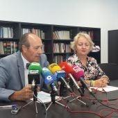 Luis Huete y Carmen Mendiola, durante la presentación de la memoria de la fiscalía de C.Real