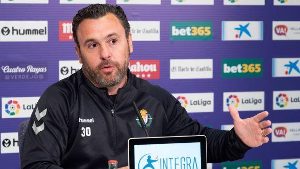 """Sergio González, entrenador del Valladolid: """"Estamos siendo muy perjudicados por las decisiones del VAR"""""""