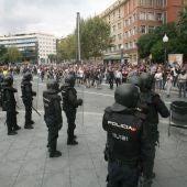Policías en Cataluña