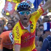 Alejandro Valverde celebra su victoria en el Mundial de ciclismo