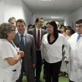 García-Page ha visitado la nueva resonancia magnética del Hospital de Puertollano
