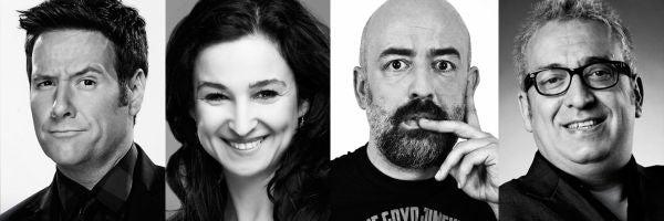 Carlos Latre, Carolina Noriega, Goyo Jiménez y Leo Harlem, los humoristas de Más de uno