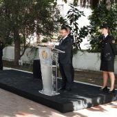 El alcalde de Vila-real José Benlloch en l´ermitori, amb motiu del dia dels Àngels Custodis, patró de la  Policia Nacional.