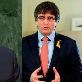 Donald Trump y Carles Puigdemont