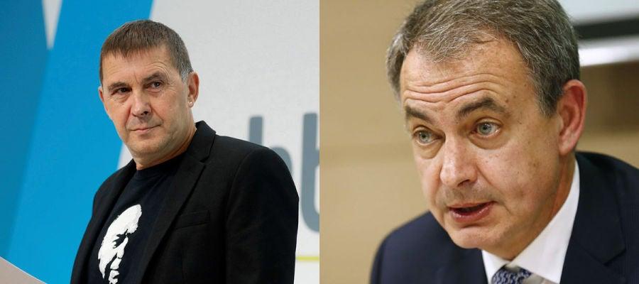 Arnaldo Otegi y José Luis Rodríguez Zapatero