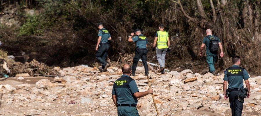 Especialistas de la Unidad Militar de Emergencias, la Guardia Civil y Bomberos de Mallorca