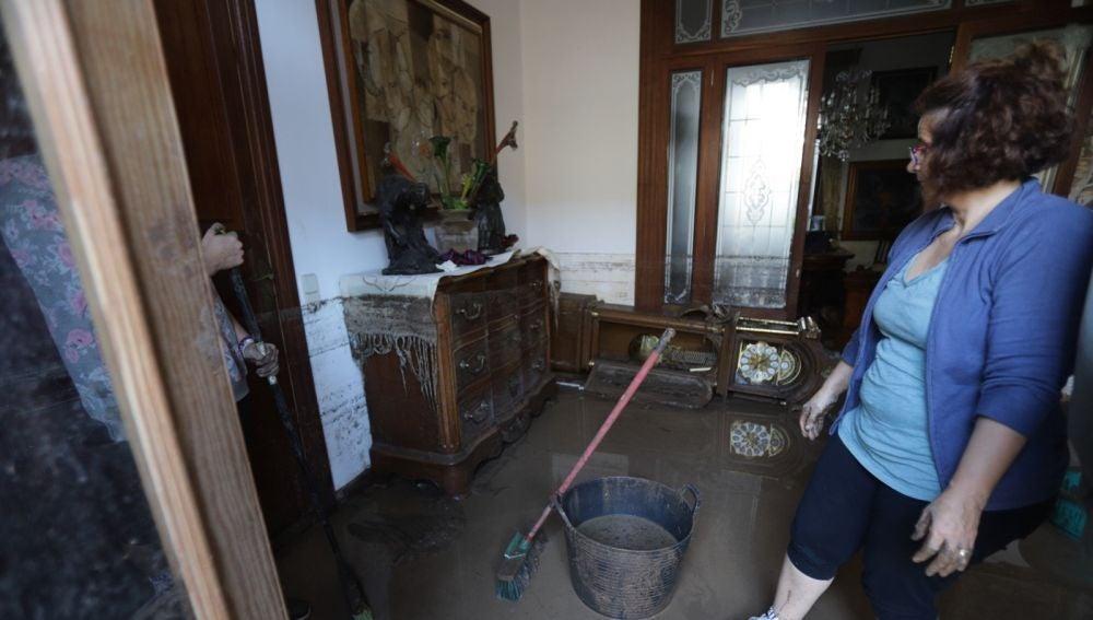 Una de las viviendas anegadas por la riada en Sant Llorenç
