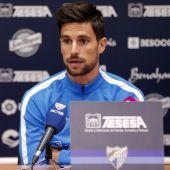 Adrián González, jugador del Málaga CF