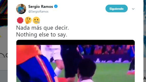 """Sergio Ramos 'manda callar' a quienes le acusan de pisar a Sterling: """"Nada más que decir"""""""
